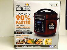 Pressure King Pro 12-in-1 5 Litre Electric Pressure Cooker With Recipe Book Red