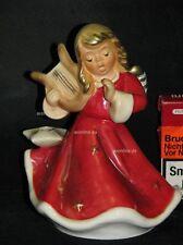 L00016_01 Goebel Porzellan Figur Kerzenhalter Engel mit Harfe Angel Harp 42-058