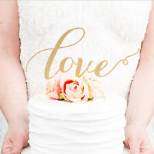 LOVE Cake Topper Sparkle Glitter Gold Wedding Decorating Engagement Party JCY
