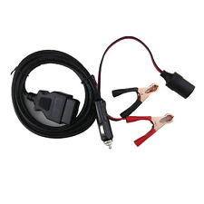 OBD2 II Power Supply Connector Memory Saver w/ Extended Cable Battery Clamp Clip