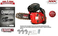 "26cc Light Weight 10"" Top Handle Petrol Chain Saw. Topping Chainsaw 3 x Chains!"