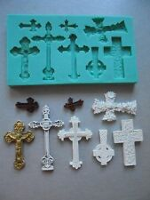 Silicone Mould CROSSES 2 Sugarcraft Cake Decorating Fondant / fimo mold