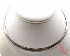"""Sterling Silver Vintage 925 Heavy Shiny Collar Necklace 15"""" (34.7g) - 549450"""