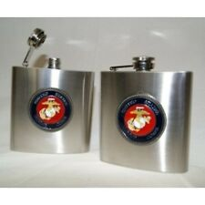 USMC Marine Corps Military Stainless Steel 6oz Flask