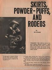 "Rodeo Cowgirls ""Skirts & Powder Puffs""+Allen,Baldwin,Blanchett,Kapernick,Lucas"
