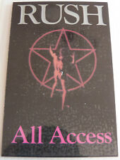 RUSH Laminated Repro ALL ACCESS Backstage Tour Pass - Starman (Moving Pictures)