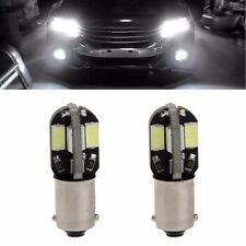 1 Pair DC 12V BA9S 5630 8 LED Car Turning Signal Light  White Warning Bulb