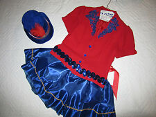 CIRCUS ringmaster red jacket halloween COSTUME size 10  cosplay fantasy hat