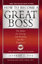 99 CENT AUDIOBOOK How to Become a Great Boss by Jeffrey J. Fox (CD, 2002)