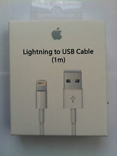 APPLE iPHONE 5 5C 5S 6 6S iPAD iPOD OEM MD818ZM/A 1M CHARGEUR USB CHARGER A1480