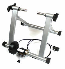 SILVER Ergolynx Cycle Fitness Turbo Trainer Bike Indoor Exercise Magnetic Force