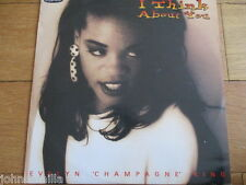 """EVELYN 'CHAMPAGNE' KING - I THINK ABOUT YOU - 12"""" RECORD - EXPANSION - EXPAND 58"""