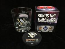 4 NHL Pittsburg Pengiuns Glasses & Coasters Set - Smirnoff Captain Morgan Promo