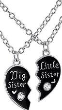 Big Little Sister Hals-Ketten Mädchen Schmuck Große Kleine Schwester Strassstein