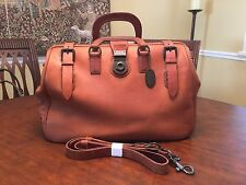FOSSIL Carpenter  Tan  Burnished  Leather  Doctor bag /  Briefcase /  Weekender