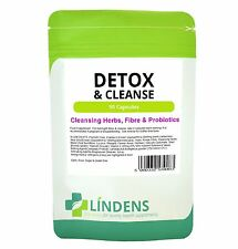 Detox & Cleanse Psyllium Fibre Probiotic Cleansing 90 Capsules Aloe Vera Weight