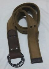 ABERCROMBIE & FITCH  DARK KHAKİ BELT Cotton/Leather  Distressed D Ring Belt