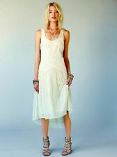 NWT FREE PEOPLE SzM UNDER THE SEA EMBROIDERED MAXI DRESS LIGHT GREEN MINT $398