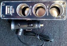 3 Fach Zigarettenanzünder KFZ USB 2.0 HUB Verteiler Adapter 12V-24V Auto Stecker
