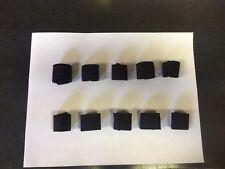 "(10 Pack) 1.5"" W x 1"" H Elastic Webbing Strap Keepers BLACK (NEW)"