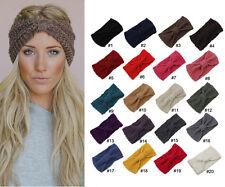 Winter Women Ear Warmer Headwrap Crochet Headband Knit Hairband Beanie #Winered