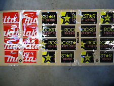 Suzuki RMZ250 Makita Rockstar Radiator louvre graphic decal set motocross RM1241