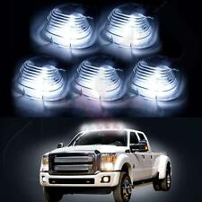 5 Smoke Roof Running Lights Cab Marker Cover + Xenon White T10 LED Bulbs
