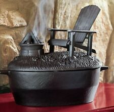 Wood Stove Steamer Cast Iron Add Moisture to Air Adirondack Chair Fire Pit Black