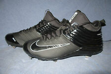 NIKE LUNAR TROUT 2 Size 13.5  Black/Silver Baseball Cleats  Flywire