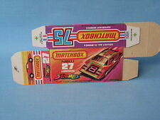Lesney Matchbox Superfast Empty Box 27 Lamborghini Countach Streaker Original B