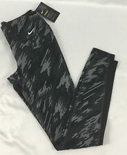 NIKE Legend Women's Leggings Pants Dri-Fit Black Grey Camo Print 810971 Size S