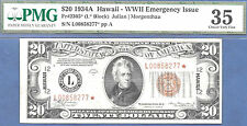 1934 $20 HAWAII STAR -OFF CENTER- FRN-FR#2305*-FEW known-Rare-PMG 35