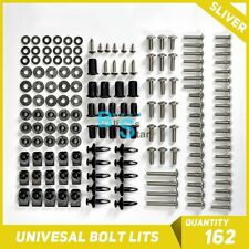 Silver 162Pcs Fairings Bolt Kit Fastener Nuts Screws for APRILIA RS125 RS250