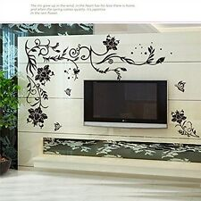 Decorative Wall Sticker Decal - Floral Vine Mural Art Home Decor