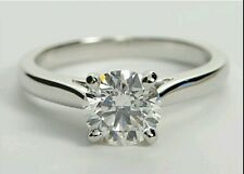 1.5 ct Round  Cut Solitaire Ring in 14K White Gold