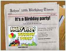 30 ANGRY BIRDS CUSTOM Personalize BIRTHDAY INVITATIONS ENVELOPES Cards