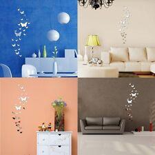 25x Schmetterlinge Wandtattoo Spiegel Aufkleber Haus Büro Wand Zimmer Deko DIY