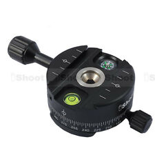 UK! CameraPlus® QJ-64II Full Metal 360 Degrees Panorama Quick Release Plate head
