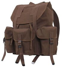 """Military Style Earth Brown Mini ALICE Pack Backpack - 16"""" Heavyweight Canvas Bag"""