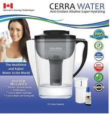 Shiny Water For Health ALKALINE IONIZED Water Pitcher WITH Ph Tester