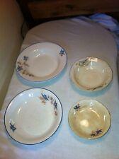 vintage set of 4 Homer laughlin  nested  blue bird dinner bowls  lot #6