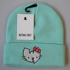 Hello Kitty Wu Tang Real Fact Hip Hop Beanie Roll Up Tiffany Menta Lanudo Sombrero