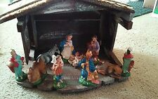 Vintage FONTANINI ? Nativity Set, Depose Italy, Spider Marked Figures, 1960's