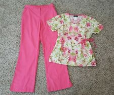 RUNWAY by CHEROKEE & BARCO ~ Scrubs Set Pants Top Lot Sz Extra Small