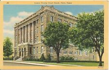 Lamar County Court House Paris TX Postcard