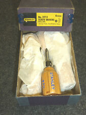 NOS! CASE LOT STANLEY No. 1 PHILLIPS STUBBY WOOD HANDLE SCREWDRIVERS #2711, RARE