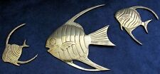 Set of Three Brass Fish Wall Hangars.