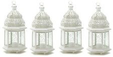 "Large 15"" tall White Moroccan Wedding Lantern (Set of Four) Party Supplies 38466"