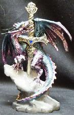 """SWORD in STONE   Dragon    Figure Statue   H8"""""""