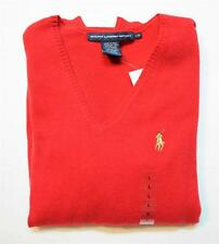 NEW POLO Ralph Lauren Womens Cashmere Merino Wool Sweater RED Size XS